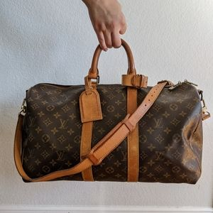 Auth Louis Vuitton Keepall BANDOULIERE 45